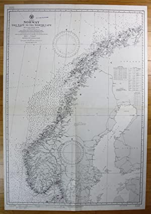 Europe - Norway - The Naze to the North Cape: U.S. Navy Hydrographic Office: