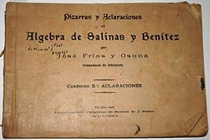 Pizarras y Aclaraciones al Álgebra de Salinas: FRÍAS Y OSUNA,
