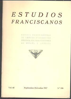Vol. 68, nº 330. Sumario: Rivera de: ESTUDIOS FRANCISCANOS. Revista
