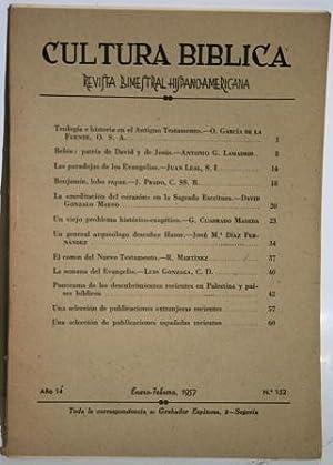 Año 14, nº 152. Sumario: García de: CULTURA BIBLICA. Revista