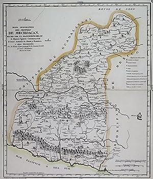 Mapa Geográfico del Obispado de Mechoacan Hecho: Lopez de Vargas