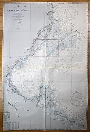 Mediterranean Sea - Tunisia - Mahdia to Ras El Machbez: U.S Navy Hydrographic Office: