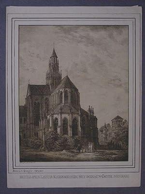 Kaisheim. `Reichspraelatur Kaiserheim bey Donauwörth MCXXXIII`. Ansicht der Kirche von der ...