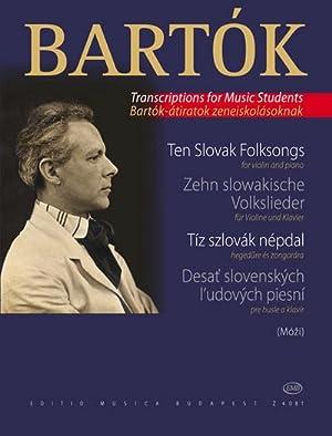 10 slowakische Volkslieder ausFür Kinder für Violine: Béla Bartók