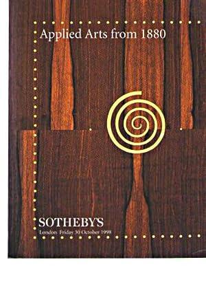 Sothebys 1998 Applied Arts from 1880: Sothebys