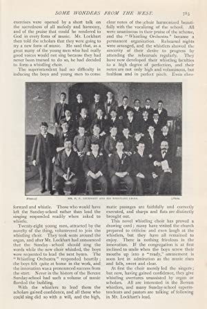 A Whistling Choir: Berean Baptist Sunday School,