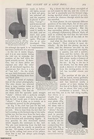 The Flight of a Golf Ball. An original article from The Strand Magazine, 1903.