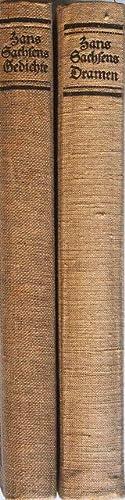 Hans Sachens Ausgewählte Werke. 2 Bände. Gedichte. Dramen.: Sachs, Hans
