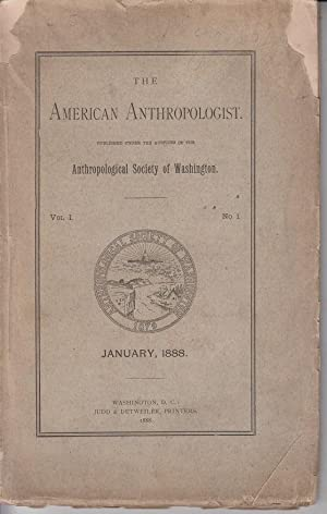 The american Anthropologist. Anthropological society of Washington.