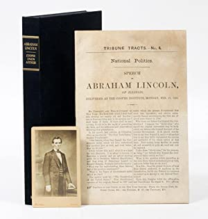 Speech of Abraham Lincoln of Illinois, Delivered: LINCOLN, ABRAHAM