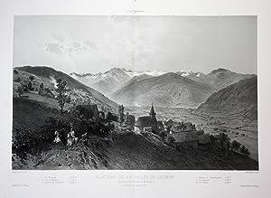 """Glaciers de La Vallee de Luchon"""" - Glaciers Vallee Luchon Pyrenees Lithographie Litho Ciceri: ..."""