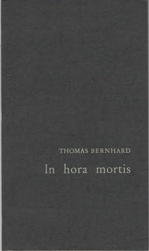 In hora mortis: Berndhard, Thomas