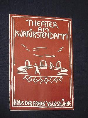 Programmheft Theater am Kurfürstendamm 1956/57. DER ZERRISSENE: Herausgegeben von der