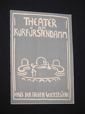 Programmheft Theater am Kurfürstendamm 1957/58. STELLA von: Herausgegeben von der