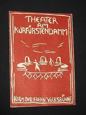 Programmheft Theater am Kurfürstendamm 1956/57. UND DAS: Herausgegeben von der