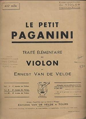 Le Petit Paganini : Traité Élémentaire De: VAN DE VELDE