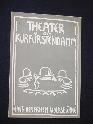 Programmheft Theater am Kurfürstendamm 1957/58. DER SCHEITERHAUFEN: Herausgegeben von der