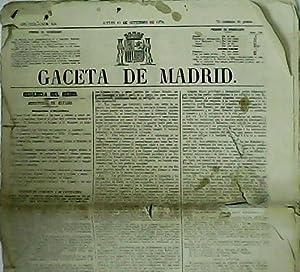 GACETA DE MADRID. Año CCIX. Núms. 258, 259, 260, 261, 262 y 263.