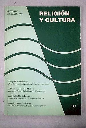 Religión y cultura, Volumen XXXVI, Octubre/Diciembre 1990