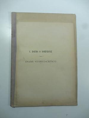 S. Doimo o Domnione. Esame storico-critico: Giuseppe M. Roberti