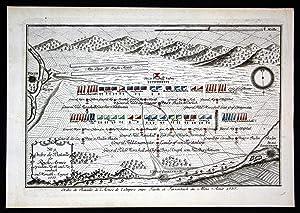 """No. 9 - Ordre de Bataille der Reichs Armee zwischen Fürth und Farrenbach im Monath August 1757""""..."""