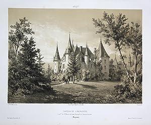 Chateau de l'Ansaudiere / Com. de St. Martin-du-Limet. Arrond. de Chateau-Gontier / Mayenne / ...