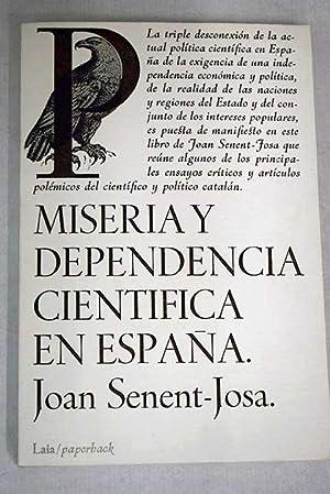 Miseria y dependencia científica en España: Senent-Josa, Joan