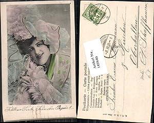 145840,Tolle Jugendstil Litho Art Nouveau Mode Edwardian