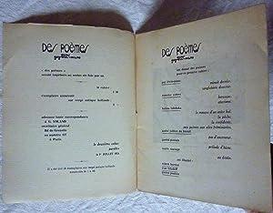 Des poèmes (Directeur Guy-Lévis-Mano) - Cahier n° 1: Revue