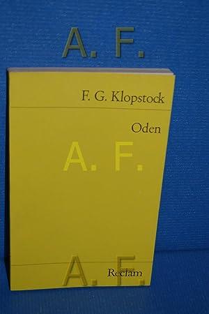 Oden. Ausw. u. Nachw. von Karl Ludwig: Klopstock, Friedrich Gottlieb: