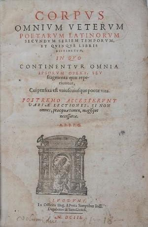 Corpus omnium veterum poetarum Latinorum secundum seriem: A.P.B.P.G. (Petro Brossaeo