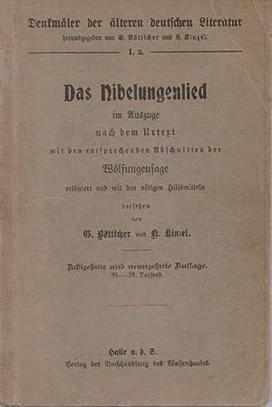 Denkmäler der älteren deutschen Literatur. Das Nibelungenlied: Hrsg. Bötticher, Gotthold
