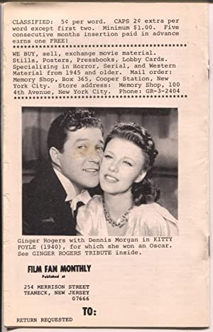 Film Fan Monthly #69 3/1967-Anita Loos-Clark Gable-Leonard Maltin-VG