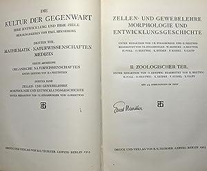 Zellen- und Gewebelehre, Morphologie und Entwicklungsgeschichte, Teil II [2]: Zoologischer Teil : (...