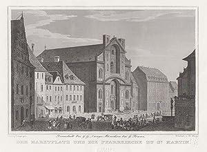 """TA., Marktplatz u. """". Pfarrkirche zu St. Martin"""".: Bamberg:"""