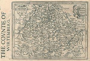 "Kst.- Karte, aus ""Historia Mundi"" n. Mercator, ""Wirtenberg"".: Württemberg ( ..."
