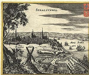 """Gesamtans., i. Vgr. Windmühle, """"Stralsvndia"""".: Stralsund:"""