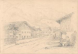 """TA., Hauptstraße, """"Grande rue Oberammergau"""".: Oberammergau:"""