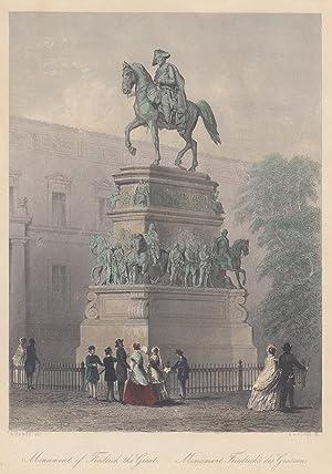Monument of Fredrick the Great. Monument Friedrich's des Grossen.: Berlin - Denkmäler: ...
