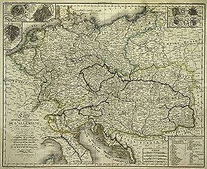 """Kupferstich- Karte, von Perrier und B. Tardieu nach Maire bei Jean in Paris, """"Carte Générale et..."""