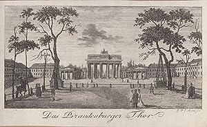 Das Brandenburger Thor.: Berlin - Brandenburger Tor: