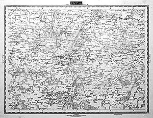 """Kupferstich- Karte, v. A. Berbe b. """"Geogr. Institut"""" in Weimar, """"Sect. 19"""".: ..."""