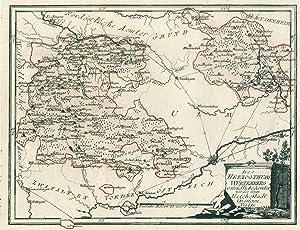 """Kupferstich- Karte, b. Reilly, """"Des Herzogthums Würtemberg ostsüdliche Aemter mit der freyen ..."""
