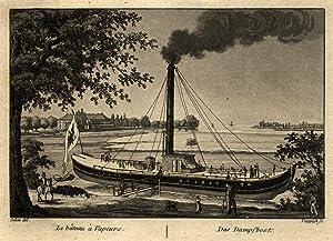 """Schloß Bellevue, """"Le bateau à Vapeurs - Das Dampfboot."""".: Berlin - Bellevue:"""