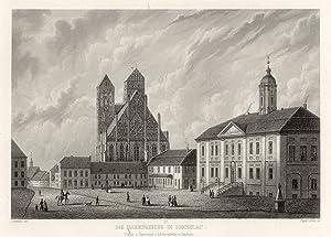Teilansicht, Marienkirche m. schöner Teilansicht.: Prenzlau/Uckerm.: