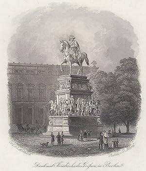 Denkmal Friedrichs des Grossen in Berlin.: Berlin - Denkmäler: Friedrich Der Grosse: