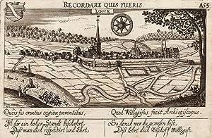 """Gesamtansicht, links oben Wappen, darunter Vers, """"Lohr. A55"""".: Lohr:"""