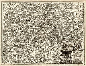 """Kst.- Karte, b. Pierre van der Aa, """"Landgraviat de Hesse"""".: Nordhessen:"""