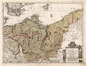"""Kupferstich- Karte, b. Pierre van der Aa, """"Brandenbourg et Pomeranie"""".: Brandenburg - ..."""