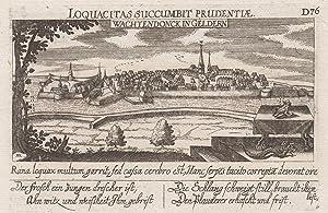 """Gesamtansicht, darunter Vers, """"Wachtendonck in Geldern. D76"""".: Wachtendonk:"""